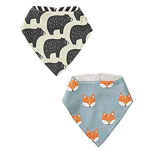 Tea Collection Reversible Bib Two-Pack, One Size, Cuddly Cubs
