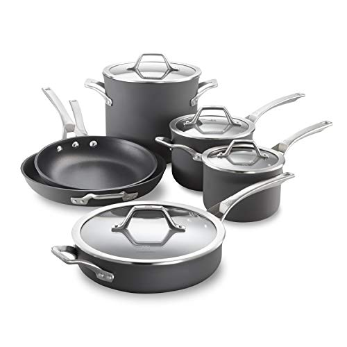 Calphalon Signature HardAnodized Nonstick Pots and Pans 10Piece Cookware Set