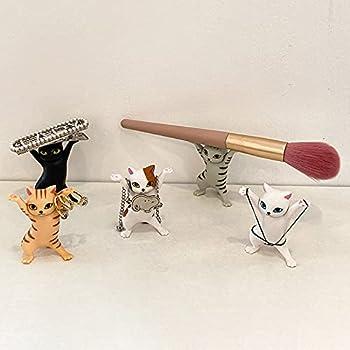 5PCS Random Pen Holder,Cat Pencil Holder,Pen Holder for Desk Funny Cat Model for Kids Adult Cat Decorations for Home Office