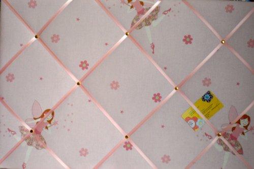 Laura Ashley Pink Millie Fairy realizzato a mano in tessuto per comunicazioni/spilla/memo/memory board