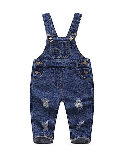 Kinder Jungen Mädchen Jeans Latzhose Overall Jumpsuit Blau