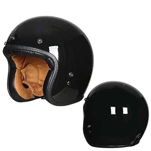 DJCALA Helm Chopper Pilot Vintage Motorhelm Mofa Jet-Helm Bobber Biker Vespa-Helm Scooter-Helm Cruiser Retro Stijl Harley Helm · ECE gecertificeerd · Incl Visor (54-64cm)