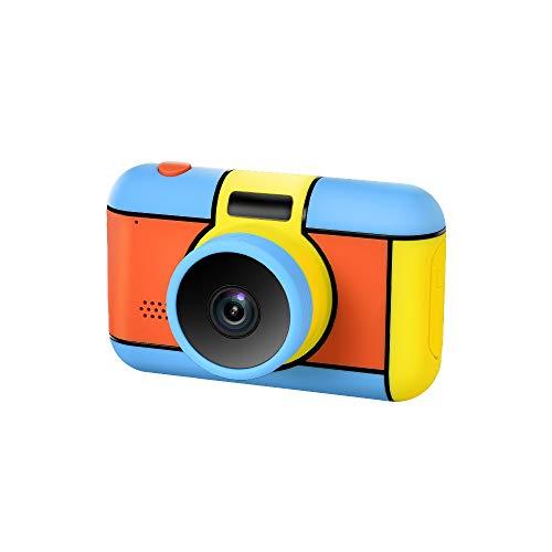Richgv Kids Camera Mini Cámaras Compactas con Pantalla de 2.4'Grabadora de Cámara de Video Digital Regalos Creativos para Niños Regalo para Niños de 3 a 10 Años Azul