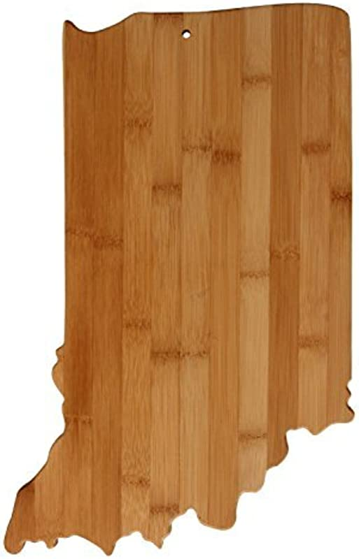 Real Bamboo Cutting And Serving Board Unique Indiana Shaped Board