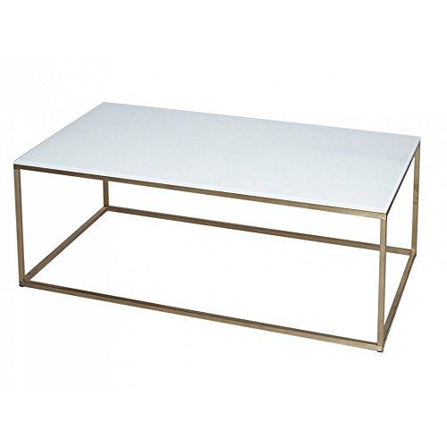 Gillmore Space Cristal Blanco y Oro Metal contemporáneo Mesa de ...
