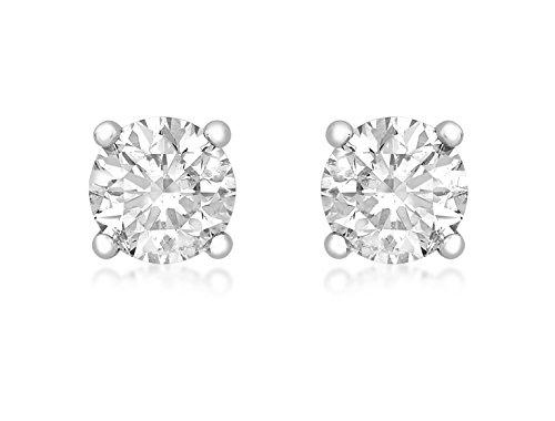 Carissima Gold Pendientes de mujer con oro blanco 18 K (750) y diamante