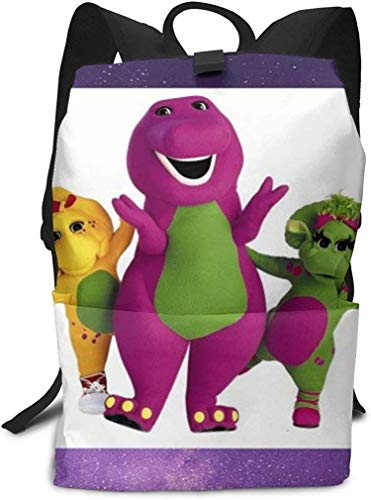 Barney and Friends Foldable Backpack Bookbag Outdoor Travel Bags Waterproof School Bag For Teen Boys Girls