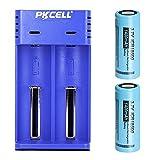 2 baterías de Iones de Litio de 3,7 V 18500 1400 mAh con Cargador Inteligente Universal para 17670 18490 17500 18350 10440