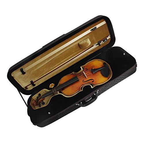 freneci Estuche para Violín de Lona 4/4 Estuche Rígido Negro Duradero con Bloqueo de para Violinistas