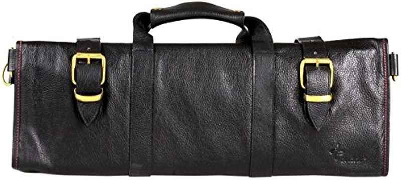 Boldric Boldric Black Leather Knife Bag 18 Pockets