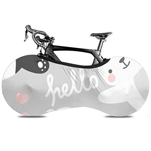 HJHJJ Fahrrad Radabdeckung Panda Rabbit Teddy Bear Print Anti-Staub-Fahrrad Indoor-Aufbewahrungstasche Kratzfeste, waschbare hochelastische Reifenverpackung Road MTB Prot