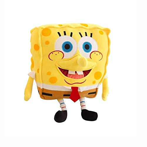 28GRJ 3D SpongeBob Plush Toy Simulation Soft Anime Cosplay Doll Cartoon Character Plush Pillow Lifelike PP Cotton Puppet Creative Funny Plush Stuffed Figure Toys Best Birthday Christmas Party Gifts 28