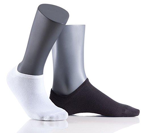 Herren Sportive AG+ Sneaker - 5er Vorteilspack - bequeme Sport Füßlinge Antibakteriell - Sport Sneaker Socken - Größe 42-44 - weiß