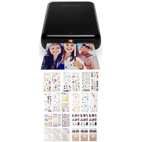 Polaroid ZIP Handydrucker mit ZINK Zero tintenfreier Drucktechnologie Schwarz Zink Bunte und dekorative Aufklebersets fur Sofortbild Papierprojekte Smile Mint Pop Z2300 9 einzigartige Sets