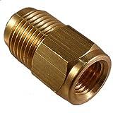 Raccord réduction 1/4' Flare femelle SAE x 3/8' Flare mâle SAE Pour tubes cuivre liaisons frigorifiques climatisation et froid outillage frigoriste