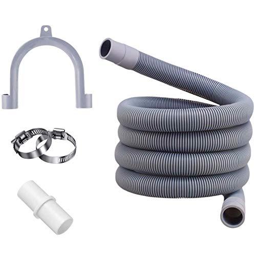 Manguera de desagüe,tubo de desagüe,Kit de extensión de manguera,Universal manguera de drenaje,Prolongación del tubo de desagüe,kit de extensión de la manguera de desagüe de la lavadora (3M)