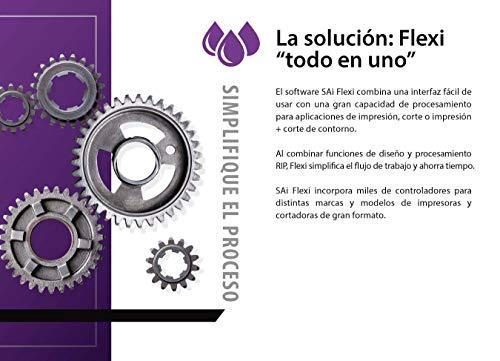 Flexi Suscripción del Software 6 MESES Completo con Diseño, Corte de Vinil, RIP e Impresión, Corte de Contornos [Código de registro con descarga de software]