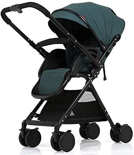 Cochecito de bebé ligero portátil para bebé para recién nacido niño niño cochecito compacto bebé liviano sentado reclinado paraguas coche alto paisaje plegable cochecito verde