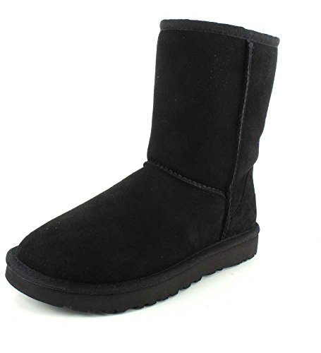 UGG Female Classic Short II Classic Boot, Black, 6 (UK)