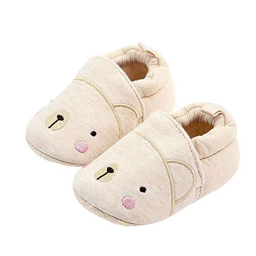Plus Nao(プラスナオ) ファーストシューズ ベビーシューズ ルームシューズ 赤ちゃん 靴 室内用 室内履き 滑り止め付き ゴム入り 可愛い ア 11cm クマ