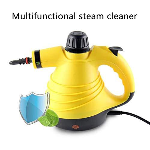 TTIK Handgerät Dampfreiniger Als Mit 9 Zubehörteilen Für Fleckenentfernung, Bedampfung Teppiche Vorhänge Autositze Küchenoberflächen & Vieles Mehr