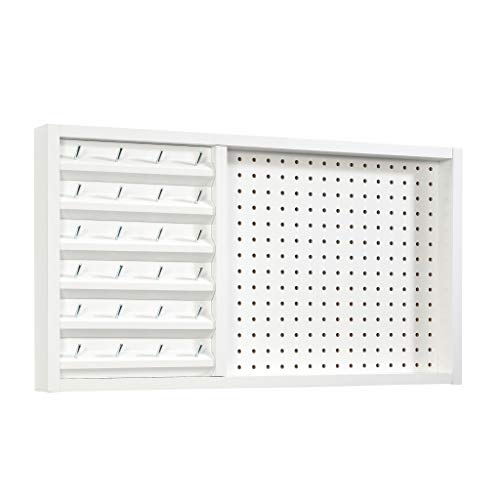 Sauder Craft Pro Series Wall Mounted Pegboard with Thread Storage, L: 27.95' x W: 2.52' x H: 15.28', White