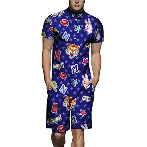 TUOP Zomer Overalls Mens Rompers Casual Jumpsuit Man Strand Sets