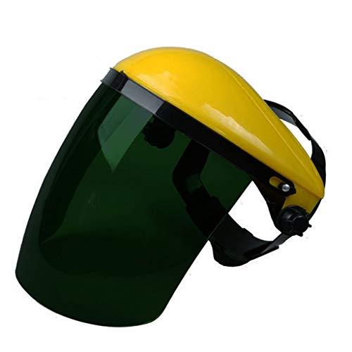 RENTEG Maskenschweißen, Head-mounted ELECTRIC Schweißmaske, Blatt PC-Schutz, Schweißen Schweißer Schweiß Cap Argon Lichtbogenschweißen Maske (Farbe : Yellow top dark green screen Screen)