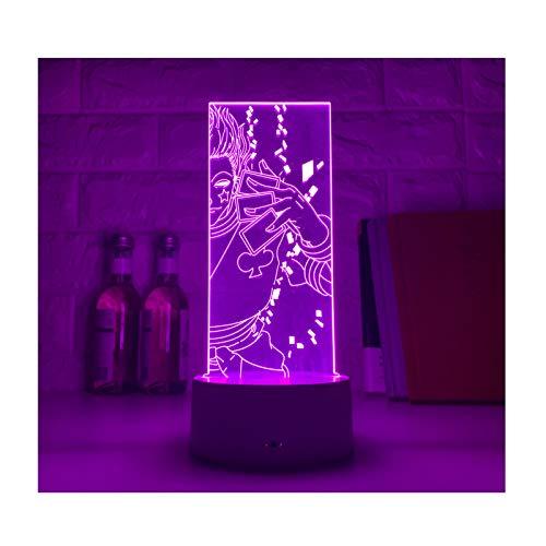 TIDRT Animación 3D Ilusión Lámpara Led 7/16 Colores Luz Nocturna Iluminación del Hogar Decoración Niño Niña Fiesta Cumpleaños Regalo Lámpara De Mesa