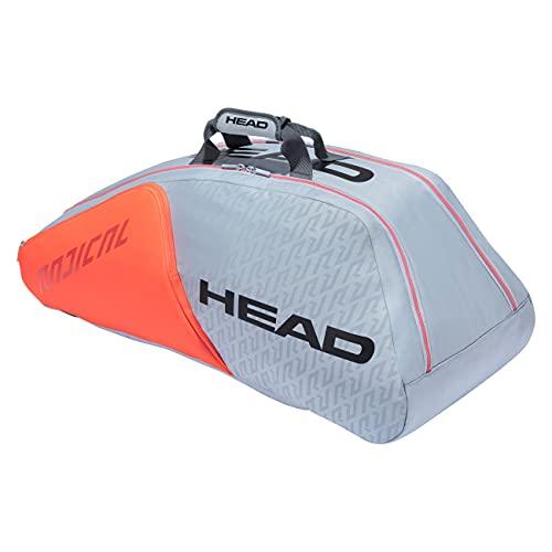 Head Radical 9r Supercombi Bolsa de Tenis, Gris/Naranja, 9 Racquets