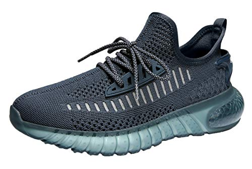 SUOKENI Men#039s Fashion Sneaker Breathable Running Shoes Lightweight Walking Shoes NavySize:US 10/EU 44