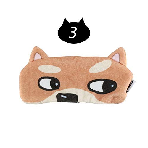 Cartoon 3D Travel Aid Sleep Rest Eye Shade Natural Sleeping Eye Mask Cover Soft Sleep Mask Cute Gift Makeup Eye Care Tools 1Pc