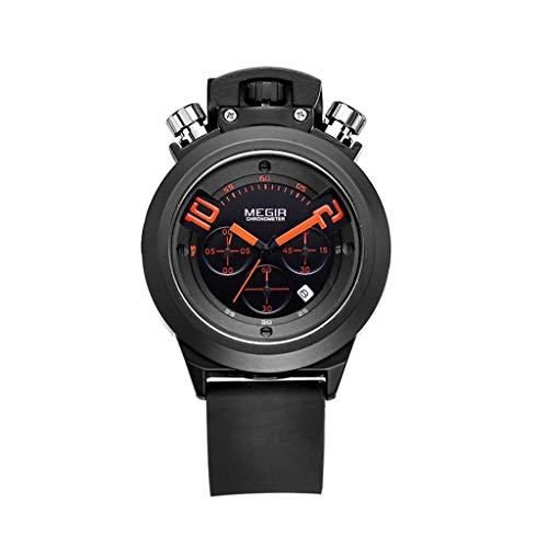 A-ZHP Herren-Armbanduhr Herren Business Casual Armbanduhr, wasserdichte multifunktionale Leuchtkalender Timer, Sport Outdoor Bergsteiger-Uhren (Farbe : B)