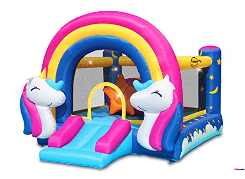 Fantasy Bounce House with Lights and Sound Interaction Inflatable Bouncer