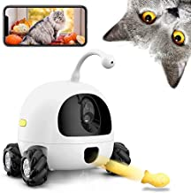 AJK Pet Camera with Laser ,Dog Treat Dispenser,WiFi Pet Monitor,1080P Night Vision,2 Way Audio and Video Tossing Feeder by iOS App Control Compatible,for Puppy Dogs & Cats (White)