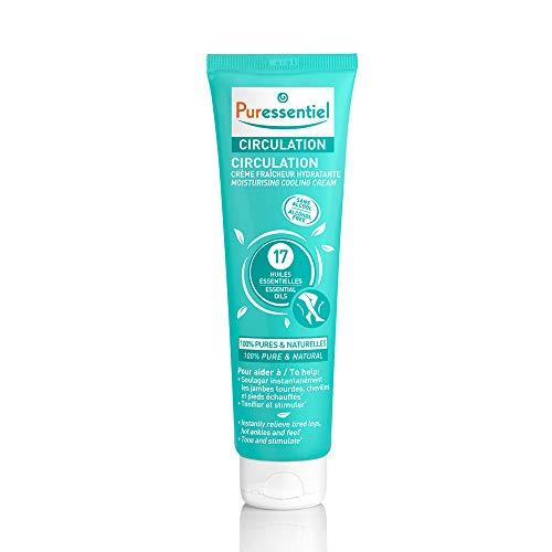 Puressentiel - Circulation - Crème Fraîcheur Hydratante - Aux 17 huiles essentielles - 100% pures et naturelles - Aide à soulager les jambes lourdes et à tonifier - 100 ml