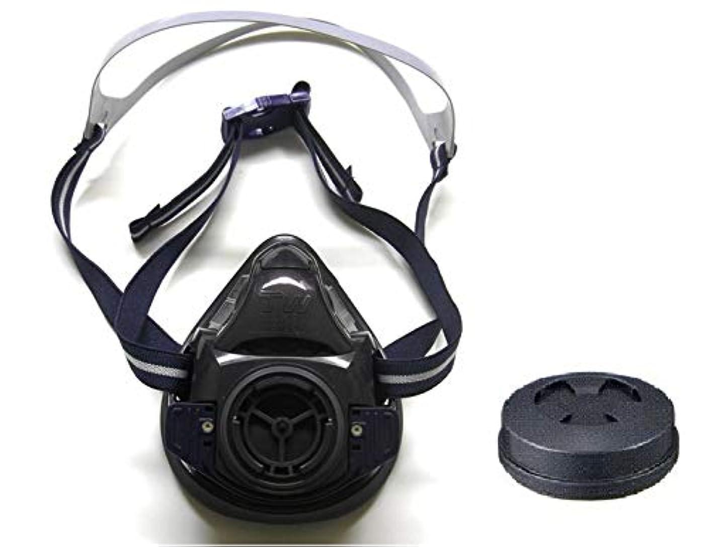 減少迅速受付シゲマツ 農薬散布用マスク TW01SC 黒 / T2フィルタ付 【水和剤?粉剤用】