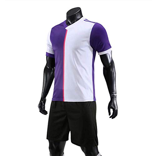 XIAOL Fußball Trikotsätze 2019 2020 Survêtement Football Kit Männer Kinder Trainingsanzug Team Uniformen Shorts Shirts,Purple-KidsSize24