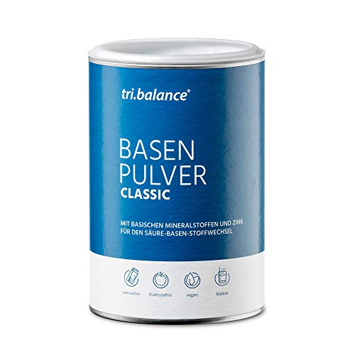 tri.balance Basenpulver Classic 300 g - 1er Pack I Mit Zink zur Entsäuerung I Für den Säure-Basen-Haushalt – zuckerfrei - vegan