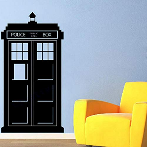 Cooldeerydm 108x57cm Arzt, der Tardis Wandaufkleber Polizei Box Kinder Wand Vinyl Aufkleber