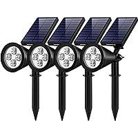 4-Pack InnoGear Solar Landscape Spotlights