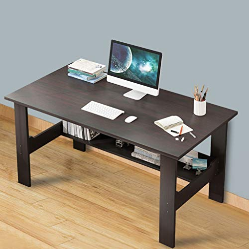 US in Stock Home Office 40Inch Computer Desk,Simple PC Laptop Writing Study Table, Gaming Computer Table, Workstation Wood Desktop Metal Frame, Modern Home Office Furniture Writing Desk