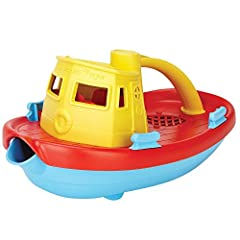 Earth-Safe Toy: this Tugboat toy is made with 100% recycled plastic milk containers. Usage of recycled materials also helps save energy and reduce greenhouse gas emissions; safe for earth as well as your child Tugboat Toy Usage: this toy unit is desi...