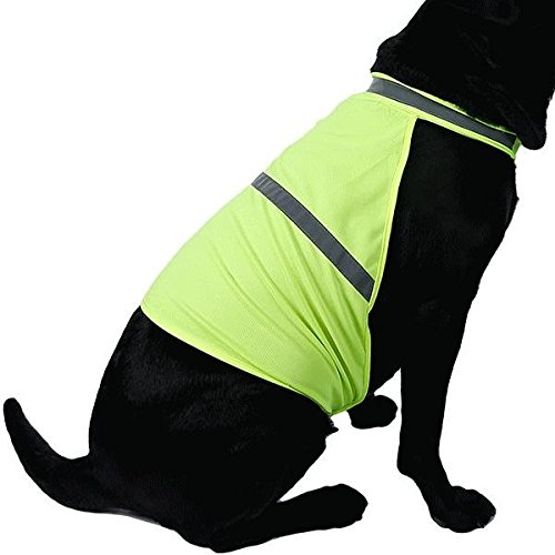 nikka(日華)反射ベスト セーフティードッグベスト 安全ベスト イエロー Mサイズ ワンコ服 犬服 ドッグウェア