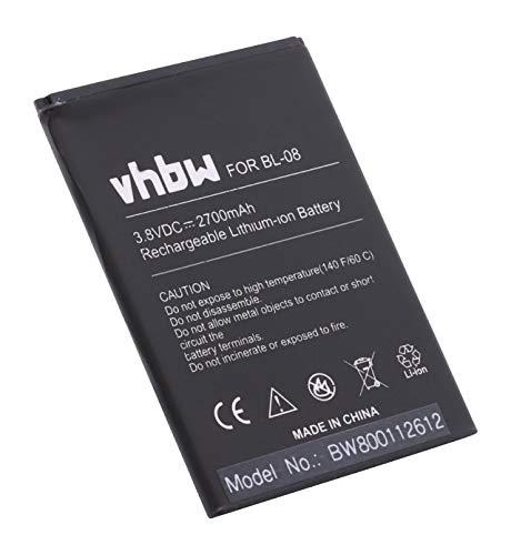 vhbw Akku kompatibel mit ThL 2015, 2015A Handy Smartphone Handy (2700mAh, 3,8V, Li-Ion)