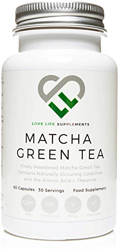LLS Japanese Matcha Green Tea | Powerful Anti-Oxidant Which Protects The Cells From Oxidative Stress | No Bulking Agents - Only Pure Matcha | 60 Capsules | Manufactured Here in the UK Under BRC Certification - 'Live Healthy, Love Life!'