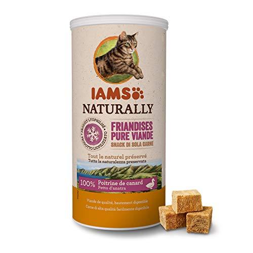 Iams Snack per Gatto Liofilizzati con 100% Anatra - 25 gr, Confezione da 4