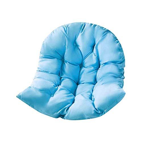 whxscsm Cojines de silla para colgar, cojines para silla de hamaca, fundas suaves para sillas extraíbles, cojines para asiento de sofá o tumbonas al aire libre (azul)