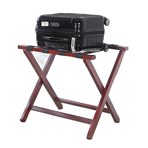 Check Out This Zhao Xiemao Folding Luggage Stand, Solid Wood Folding Luggage Rack for Hotel Hotel Be...