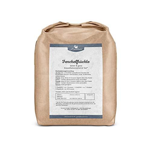 Krauterie Fenchel-Samen in sehr hochwertiger Qualität, frei von jeglichen Zusätzen, als Tee oder für Pferde und Hunde (Foeniculum vulgare) – 1000 g